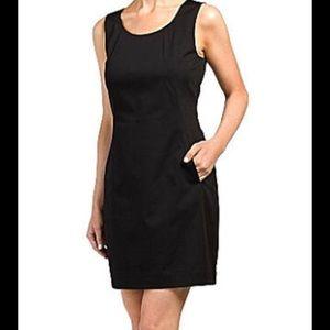 Theory Rikae Navy Dress with Pockets- 4